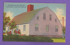 MASSACHUSETTS  OLD HARLOW HOUSE , FROM TIMBER OF OLD FORT, PLYMOUTH PC. 693