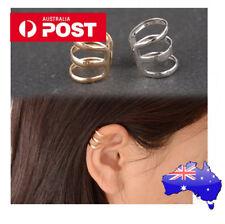 2 x SILVER CUFF earring rock funky fashio ear clip cosplay punk