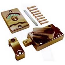 Asec AS10330 Toilet Indicator Bolt Door Lock Set Polished Brass