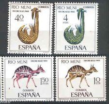 Spain Rio Muni Edifil # 72/75 ** MNH Set. Fauna / Animals / Dia del Sello