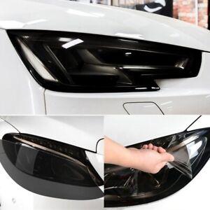 "12""x40"" Gloss Car Headlight Fog Taillight Wrap Tint Vinyl Film Sticker Decal"