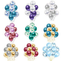 10pc/lot Chrome Confetti Balloons Bouquet Birthday Party Decor Metallic Wedding
