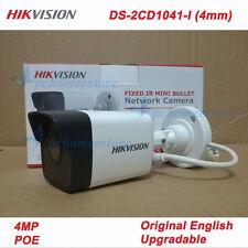 Original English Hikvision DS-2CD1041-I (4mm) 4MP IR POE Network Bullet Camera