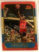 "MICHAEL JORDAN FLEER 10TH ANNIVERSARY ""REFRACTOR BRUSHED GOLD"" ROOKIE CARD!!!"