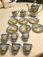 Antique Japanese Tea Set, Dragon, set of 15, Betson's hand painted in Japan