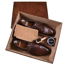 Ermenegildo Zegna Couture XXX Brown Cap Toe Shoes w/ TREES & LEATHER BOX 11