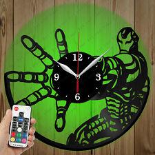 LED Vinyl Clock Iron man LED Wall Art Decor Clock Original Gift 2928