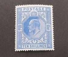 GB 1912 10/- BLUE KEDVII MLH SG319