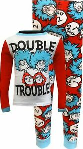 Boys' Cat in The Hat Thing 1 and Thing 2 Double Trouble Pajama Set - Size 10