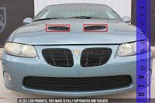GTG 2004 - 2006 Pontiac GTO 2PC Gloss Black Overlay Hood Scoop Billet Grille Kit