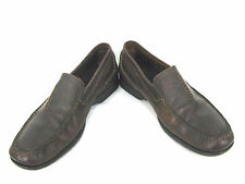 Clarks Shoes Loafers 11.5 M Dark Brown Leather Slip On Mens