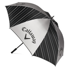 """Callaway Golf UV 64"""" Umbrella NEW 2020 Golf Accessory Black Silver White"""