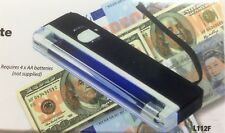 FAKE BANK NOTE CHECKER H/HELD UV NOTE CHECKER MONEY DETECTOR BATTERY OPERATED