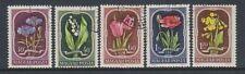 Hungary - 1951 Flowers set - F/U - SG 1202/5