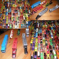 25 Spielzeugautos + 1 LKW Traktor Kran Hot Wheels Matchbox Siku Guter Zustand!