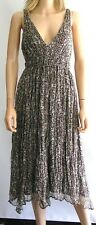 PORTMANS Silk Shell Print Dress SIZE 14 Brown, Black & Beige New With Defects