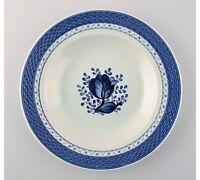 18 Deep Tranquebar plates from Royal Copenhagen / Aluminia.