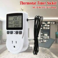 Thermostat Digital Temperature Controller Socket Outlet With Timer Switch Sensor