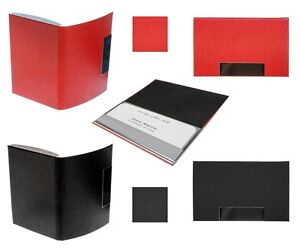 Leather Business Credit Card Holder Fashion Pocket Case Stainless Steel