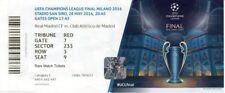 Riproduzione 2016 REAL MADRID Atletico CHAMPIONS LGE FINALE biglietto personalizzato