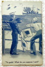Vintage Navy Sailor Military Arcade Card Ye Gods What Do You Suppose I Said #9
