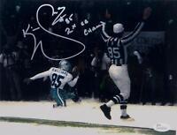 Kevin Williams Signed Dallas Cowboys 8x10 In Snow Photo W/ SB Champ- JSA W Auth