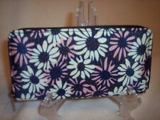 "2 moda Zip Around Nylon Wallet, 7-1/2"" Long x 4"" Wide, Floral Print"