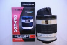 Opteka 500mm F6.3 mirror lens screw mount fit with added Canon T- EOS adapter