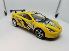 "New 5"" Kinsmart Toyota Celica Racing Decal Diecast Model Toy Car 1:34 Yellow"