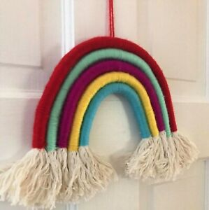 DIY Macramé Rainbow Craft Kit Gift FREE POSTAGE