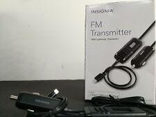 Insignia Lightning FM Transmitter for iPhone 5/5s 6/6 Plus 7/7 Plus  (i4)