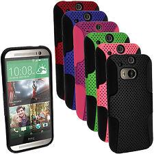Silicone Etui Housse Gel Case Cover & Maille pour HTC One M8 2014 + Prot d'écran