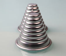 Unique Jelly Pudding Aluminum Alloy Metal Layer Cone Conus Shape  Cake Pan Mold