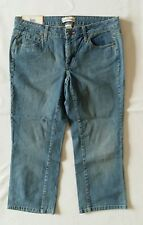 Women's Denim Capri Jeans size 12 Light Wash Low Rise Stretch Steve&Barry's New!