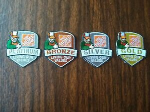 Home depot 4 patches platinum,gold,silver and bronze