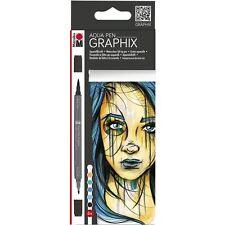 Marabu Aqua Pen Graphix Marker Set Watercolour Manga 6 Pack - METROPOLITAN