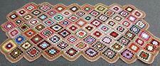 Vintage Brown Granny Square Afghan Sofa Throw 37x73