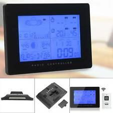 Wireless Weather Station Radio Control Clock indoor outdoor Sensor Humidity UK