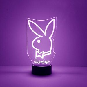 Playboy Bunny Engraved LED Night Light, with Remote Control, Light Up