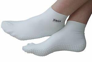 CHEX Swim Socks Anti Verruca 100% Latex Swimming Pool Foot Feet Guard White