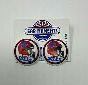"Buffalo Bills Vintage 1-1/4"" Diameter  Earrings Ear-Naments New vintage 1990"