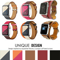Genuine Leather For iWatch Series 4 Apple Band Double Single Tour Strap Bracelet
