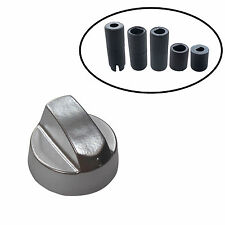 One UNIVERSAL for PRESTIGE Silver Cooker Oven Hob Control Knob & 5 Adapters
