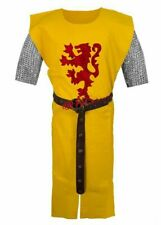 Lion Frame Printed Medieval Viking Yellow Color Tunic Armour Without Sleeves