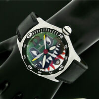 """Corum 2004 Bubble Dive Bomber """"Shark"""" Green Dial 44mm Automatic Watch 82.180.20"""