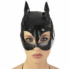 Black PVC Spandex wet look Mask Hood, wet look PVC fancy dress
