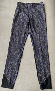 Laain Activewear Leggings Leopard Animal Print Blue Size Small