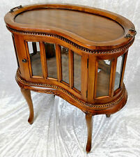BEAUTIFUL NEW SOLID MAHOGANY HAND-MADE DRINKS/DISPLAY CABINET. FREE DELIVERY