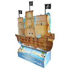 BNIB STUNNING PIRATE PLAY HOUSE BOYS DOLLSHOUSE CUBBY HOUSE CANNON BOAT SHIP