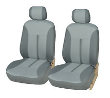 Car Seat Covers 2 Front Semi-Custom Fabric Compatible to Nissan 861 Gray